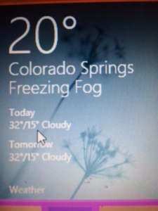 Have you ever heard of freezing fog?